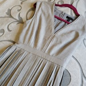 J. Crew pleated gray dress size 2